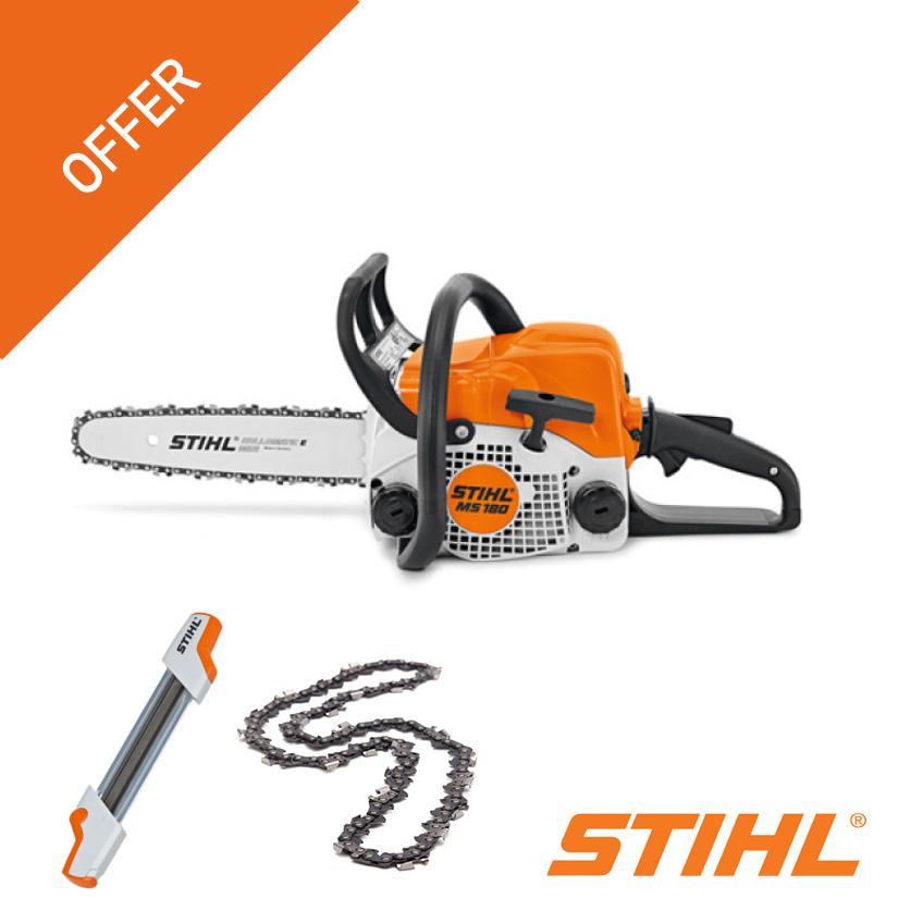 stihl ms180 free chain sharpener and chain