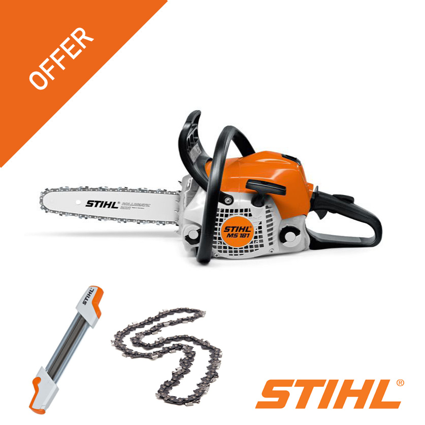 Stihl MS181 chainsaw offer free chain sharpener and chain