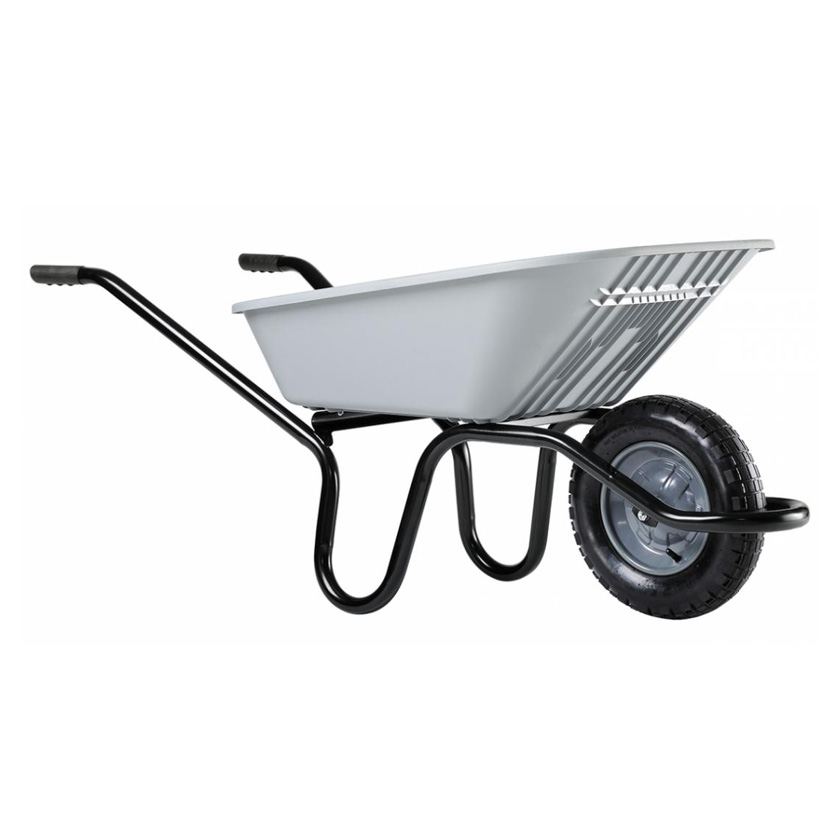 grey wheel barrow