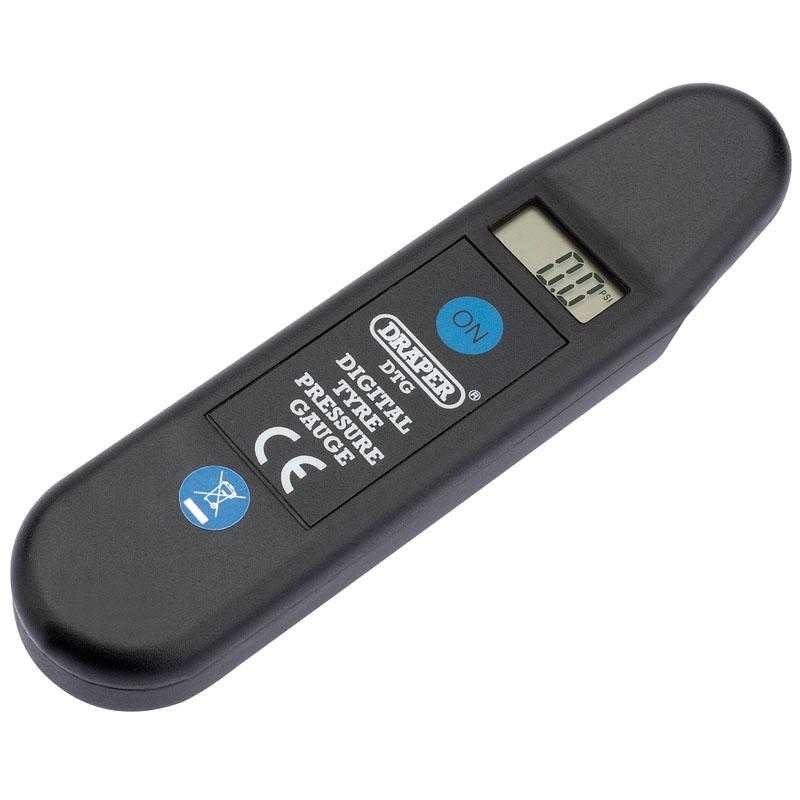 black tyre pressure gauge