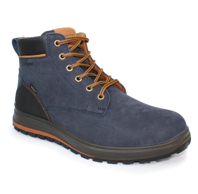 blue hiking boot