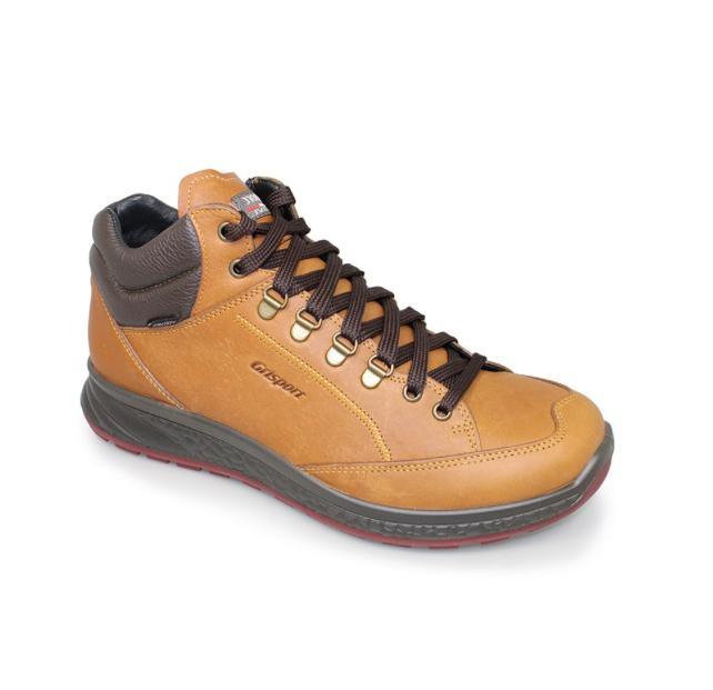 brown hiking boot