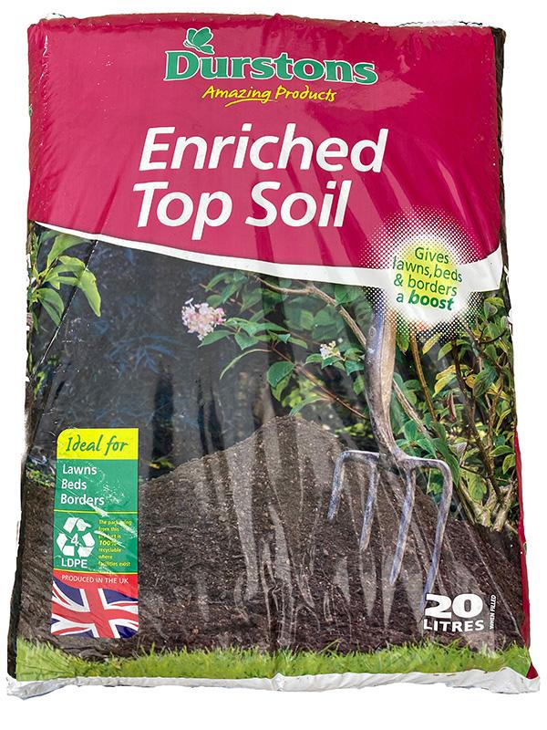 20 litre bag of enriched topsoil